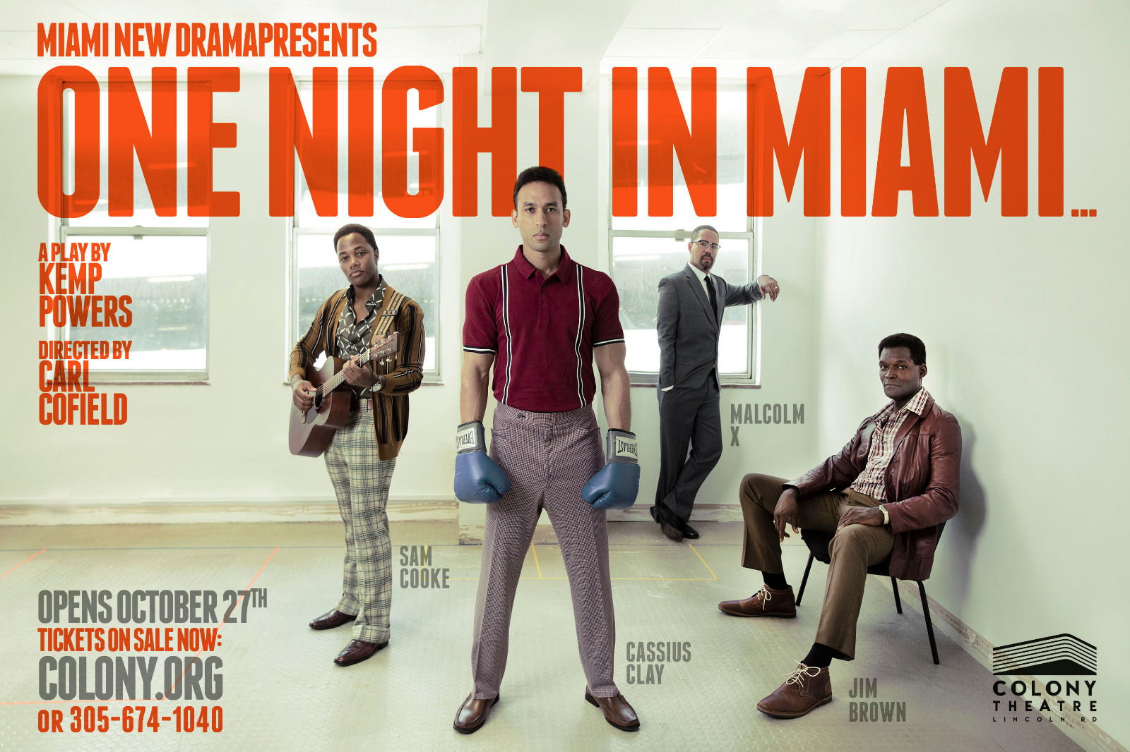 Cast List Announced One Night In Miami At Colony Theater Abkco Theater